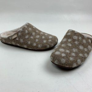 Fitflop Mules 9 Chrissie Dots Wool Slipper Shoes